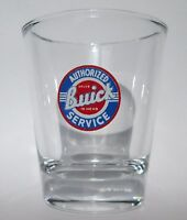 Buick Authorized Service Logo on Clear Shot Glass
