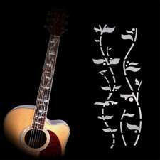 J.Custom Tree Of Life Guitar Bass Inlay Sticker Decal Diy Neck Fretboard Silver