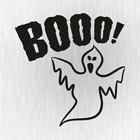 Booo Ghost Buh Geist Halloween Tuning Schwarz Auto Vinyl Decal Sticker Aufkleber