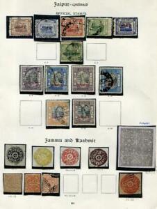 INDIAN STATES: Jaipur/Jammu & Kashmir - Ex-Old Time Collection - Page (41672)