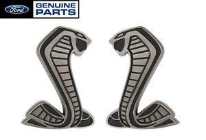 """2020-2021 Shelby GT500 OEM 3.5"""" Snake Fender Side Emblems Badges LH RH"""