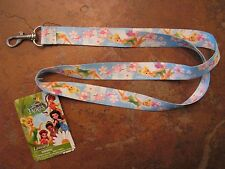 Lanyard Key Holder Disney Fairies Blue Strap