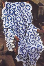 Crochet Pattern ~ WINTER SNOWFLAKE AFGHAN ~ Instructions