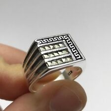 Turkish Ottoman Jewelry Touch Marcasite 925K Sterling Silver Men's Ring