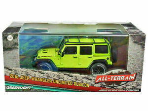 2016 JEEP WRANGLER UNLIMITED RUBICON HYPER GREEN 1/43 DIECAST GREENLIGHT 86179