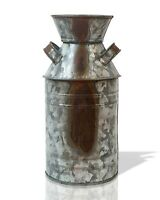 Old Fashioned Galvanized Rusty Distressed Tin Milk Can Country Kitchen Primitive