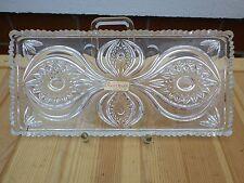 Servierplatte Vorlegeplatte Glas Bleikristall Nachtmann 31x14,5 cm  W653