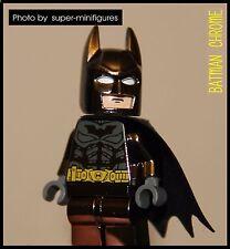 Lego Batman Super Heroes colour-realistic metal black minifigure  (lego custom)