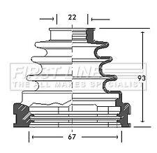 CV Joint Boot Kit fits TOYOTA RAV-4 SXA10 2.0 Front Inner 95 to 00 3S-FE C.V.