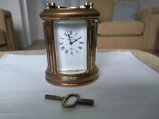 L'EPEE MINIATURE CARRIAGE CLOCK IN EXCELLENT CONDITION - NICE PATINA - WITH KEY