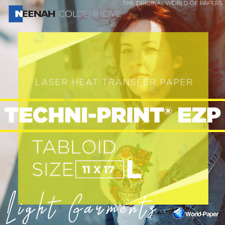 Neenah Techni Print Ezp Laser Heat Transfer Paper For Light 11 X 17 50 Sh