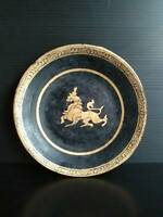 Antique Burmese lacquer plate