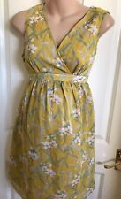 Jo Jo Maman Bebe Yellow Floral Maternity Dress Size small 10 new £45