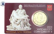 Vatikan 50 Cent 2013 Benedikt XVI. in Coin Card Nr. 4 Pietá von Michelangelo