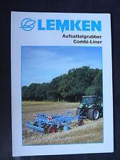 0100) LEMKEN Aufsattelgrubber Combi-Liner - Prospekt Brochure 10.2003
