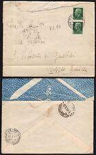 STORIA POSTALE Guerra Spagna 1938 Lettera da UPS 10 a S.Vittoria Gualtieri (CS)