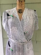Vtg geometric op art mod psychadelic belted dress - med/large b42
