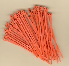 100 4 Inch Long 18 Pound Orange Nylon Cable Zip Ties Ty Wraps Made In Usa