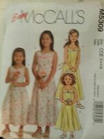 McCalls Sewing Pattern 5309 Girls Childs Lined Formal Dress Flowergirl Size 3-6