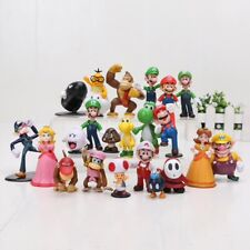 SUPER MARIO BROS lot de 22 Figurines  poupée LUIGI MARIO PEACH jouet décor