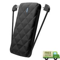 iWALK Ultra Slim Backup Portable Power Bank Battery 3000mAh USB-C & Lightning