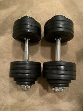 Yes4All 105 lbs (2x52.5lbs) Dumbbells. With 2 Additional Handles