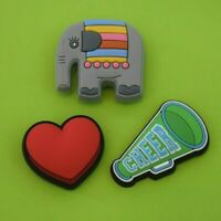Crocs Jibbitz Charms *Elephant, Red Heart, Cheer*   ALL 3 for $7.99  *NEW!!!