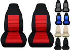 Fits 04-12 Chevy Colorado Bucket Front Car Seat Covers Black-charcoalredgray..
