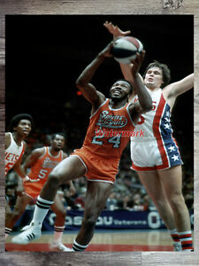 ABA 1975 Marvin Barnes Spirits of St. Louis Game Action Color 8 X 10 Photo Pic
