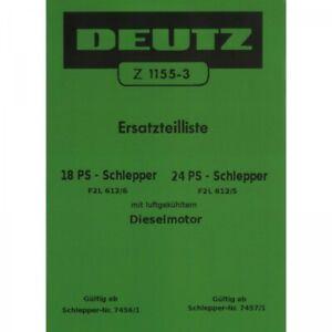 Deutz F2L 612/6 und F2L 612/5 mit Dieselmotor Schlepper Traktor Ersatzteilliste