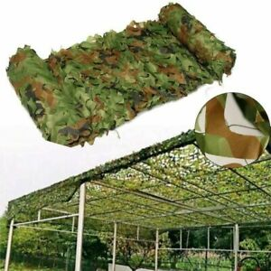 Woodland Camouflage Netting Military Camo Hunting Shooting Hide Cover 2 layer