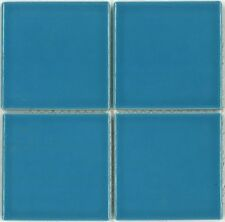 "Fujiwa Porcelain Swimming Pool Waterline Tile - VIPS-813 SKY BLUE 3"" X 3"" PAC2"