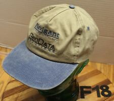 NAVIGANT CONSULTING GEODATA SOLUTIONS HAT BROWN/BLUE STRAPBACK VGC F18