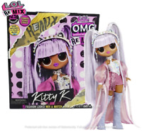 "LOL Surprise REMIX Kitty K 10"" OMG Fashion Doll Queen Music Set"