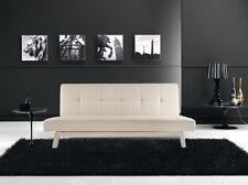 Divano letto sofa 180x80 bianco ecopelle reclinabile design moderno arredo|def