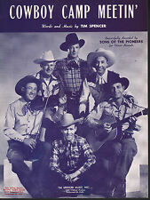 Cowboy Camp Meetin 1946 Sons of the Pioneers Sheet Music