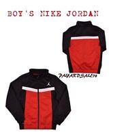 NEW BOY'S NIKE JORDAN JACKET JUMPMAN FULL ZIP BASKETBALL RED / BLACK 951327 681