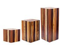 Beistelltisch Couchtisch Tisch Holz Treibholz Hocker Massiv Schwer Echtholz Neu