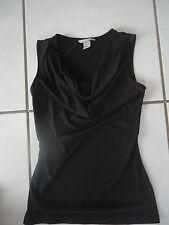 Sehr schönes Damen Shirt ohne Arm elegant fein schwarz Gr. XS   Neu