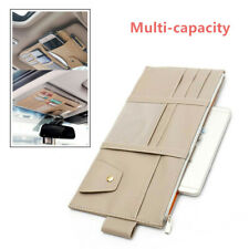 Car Sun Visor Organizer Interior Pockets Storage Holder Sunproof Waterproof