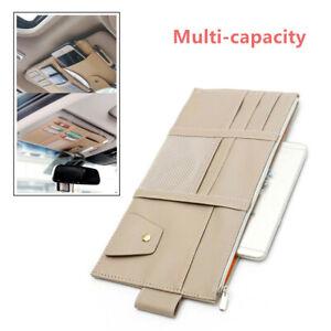 Car Sun Visor Organizer Interior Pockets Storage Holder Sunproof Waterproof