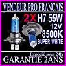 2 AMPOULES H7 55W XENON 8500K 12V PAIRE LAMPE HALOGENE FEU PHARE GAZ SUPER WHITE
