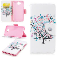 Colors Pattern Wallet Case Flip PU Leather Stand Cover For Samsung Cell Phone