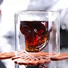 Home Bar beer Crystal Glass Ware Vodka Whiskey Skull Head Shot Cup Drinking Mug
