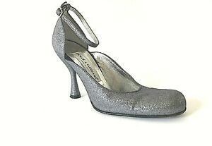 DOLCE & GABBANA Womens Pumps Mary Janes Silver Shoes Size 36/6