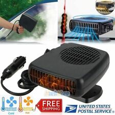 NEW Car Portable 2 in 1 Ceramic Heating Cooling Heater Fan Defroster Deicer