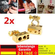 2X Auto Batterie Klemme Terminal Pol klemmen Verteiler 2/4/8 AWG Pluspol KFZ DE