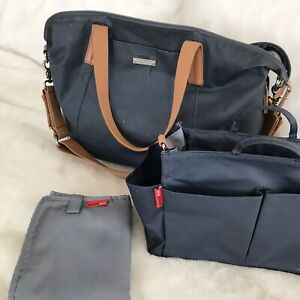 Storksak Noa Navy Nappy Bag + Mini Organiser