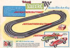 Scalextric 1961 Grand Prix Gp 2 Set A3 tamaño póster de anuncio de tienda pantalla signo