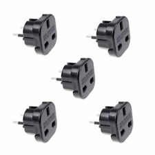5X  Travel Adaptor Black UK to EU Pin Convert Power European Plug Converter Euro